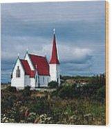 Village Church Wood Print