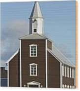 Village Church Of Eyrarbakki Wood Print by Michael Thornton