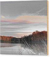 Village Creek Ar Morning Wood Print