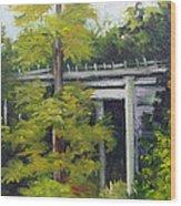 Village Creek Bridge Wood Print