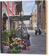 Village Flowershop Wood Print