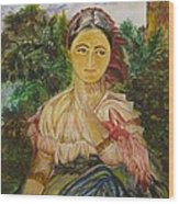 Village Girl Wood Print