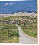 Village Gorica Island Of Pag Wood Print