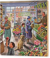 Village Greengrocer  Wood Print