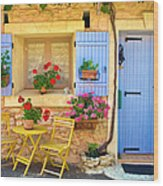 Village House In The Tiny Luberon Wood Print