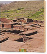 Village In Atlas Mountains In Morocco Wood Print
