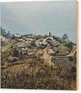 Village In Sikkim Wood Print
