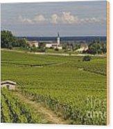 Village Of Aloxe Corton. Cote D'or. Burgundy. France Wood Print