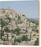 Village Of Gordes Wood Print