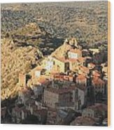 Village Of Speloncatu In Corsica Wood Print