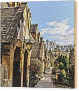 Village Of Winchcombe Wood Print