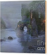 Villages By The Foggy Sea II Wood Print