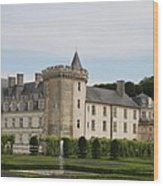 Villandry Chateau And Boxwood Garden Wood Print