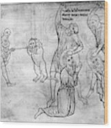 Villard De Honnecourt (c1225-1250) Wood Print