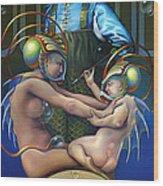 Villeroy Bleu Wood Print