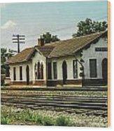 Villisca Train Depot Wood Print