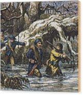 Vincennes: March, 1779 Wood Print by Granger
