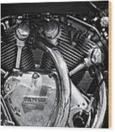 Vincent Series C Black Shadow Engine Wood Print