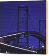 Vincent Thomas Bridge Wood Print