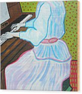 Vincent Van Gogh's Marguerite Gachet Playing At The Piano Wood Print