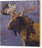 Vincent Van Moose Wood Print