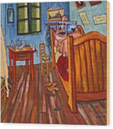 Vincents Bedroom In Arles For Surfers-amadeus Series Wood Print