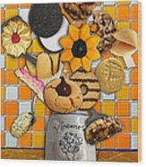 Vincent's Sunflower Cookie Jar Wood Print