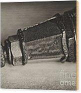Vindage Spark Plug  3 Wood Print by Wilma  Birdwell