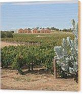 Vineyard And Winery Wood Print