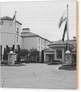 Vineyard Creek Hyatt Hotel Santa Rosa California 5d25787 Bw Wood Print