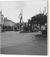 Vineyard Creek Hyatt Hotel Santa Rosa California 5d25789 Bw Wood Print