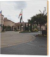 Vineyard Creek Hyatt Hotel Santa Rosa California 5d25789 Wood Print by Wingsdomain Art and Photography