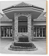 Vineyard Creek Hyatt Hotel Santa Rosa California 5d25792 Bw Wood Print