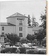 Vineyard Creek Hyatt Hotel Santa Rosa California 5d25866 Bw Wood Print