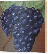 Vineyard Grapes On Terra Cotta Wood Print