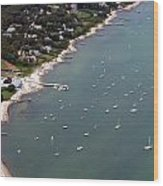 Vineyard Haven Yacht Club Wood Print