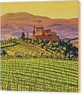 Vineyard In Tuscany Wood Print