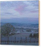Vineyard Morning Light Wood Print