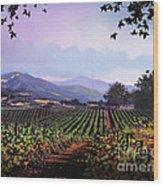 Vineyard Napa Sonoma Wood Print by Robert Foster