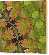 Vineyard Quilt Wood Print