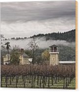 Vineyards Of Napa Wood Print