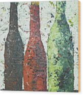 Vino 2 Wood Print by Phiddy Webb