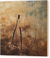 Vino De Arte Moderno Wood Print by Carmen Guedez