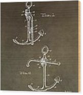 Vintage 1902 Anchor Patent Wood Print