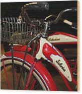 Vintage 1941 Boys And 1946 Girls Bicycle 5d25760 Square Wood Print