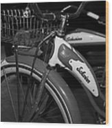 Vintage 1941 Boys And 1946 Girls Bicycle 5d25760 Vertical Black And White Wood Print
