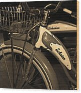 Vintage 1941 Boys And 1946 Girls Bicycle 5d25760 Vertical Sepia1 Wood Print
