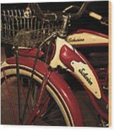Vintage 1941 Boys And 1946 Girls Bicycle 5d25760 Vertical Sepia2 Wood Print
