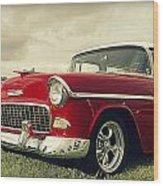 Vintage 1955 Chevy Nomad Wood Print