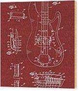 Vintage 1961 Fender Guitar Patent Wood Print